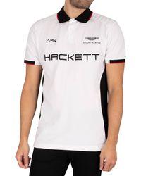 Hackett Aston Martin Racing Multi Polo Shirt - White