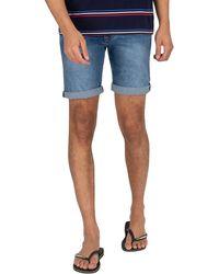Pepe Jeans Cane Denim Slim Shorts - Blue