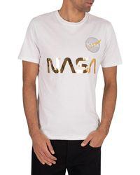 Alpha Industries White Cotton T-shirt