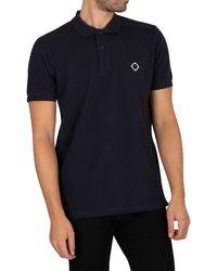 MA.STRUM Pique Polo Shirt - Blue