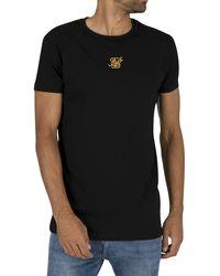 SIKSILK Reverse Collar Box T-shirt - Black