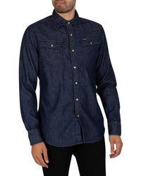 G-Star RAW 3301 Slim Shirt - Blue