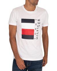 Tommy Hilfiger Corp Stripe Box T-shirt - White