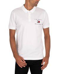 Tommy Hilfiger Logo Polo Shirt - White