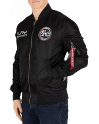 Alpha Industries Black/grey Moon Landing Reversible Bomber Jacket