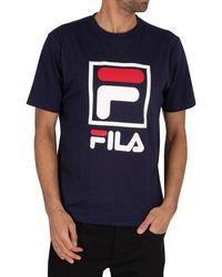 Fila Jack Stacked Logo T-shirt - Blue