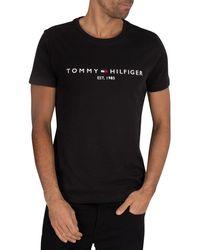 Tommy Hilfiger Core Logo T-shirt - Black
