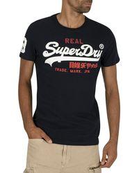 Superdry Vintage Logo Tri T-shirt - Blue