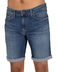 Tommy Hilfiger Scanton Slim Denim Shorts - Blue