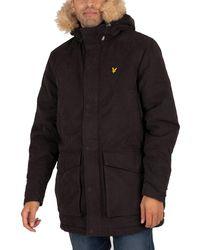 Lyle & Scott Winter Weight Microfleece Lined Parka Jacket - Black