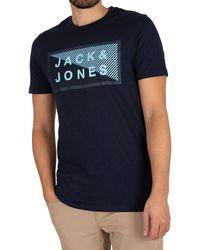 Jack & Jones Core Shawn Graphic Slim T-shirt - Blue