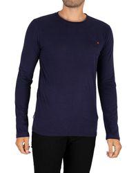 Superdry Vintage Emb Longsleeved T-shirt - Blue