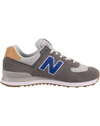 New Balance 574 Suede Sneakers - Gray