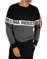 Alpha Industries Al Stripe Sweatshirt - Black