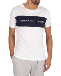 Tommy Hilfiger Lounge Logo Flag T Shirt - White