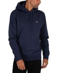 Tommy Hilfiger Regular Fleece Pullover Hoodie - Blue
