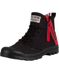 Palladium Pampa Unzipped Boots - Black