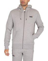 Superdry Classic Zip Hoodie - Grey