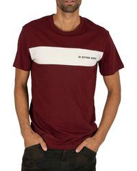 G-Star RAW Rodis Block T-shirt - Red