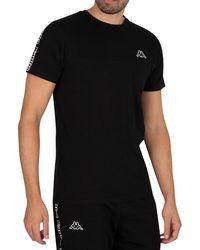 Kappa Logo Itap Slim T-shirt - Black