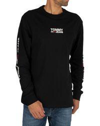 Tommy Hilfiger Longsleeved T-shirt - Black