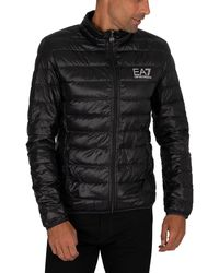 EA7 Logo Down Jacket - Black