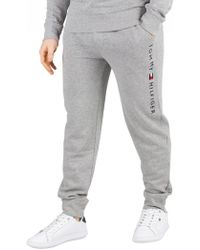 0859b19d Tommy Hilfiger Logo Joggers in Gray for Men - Lyst