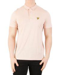 Lyle & Scott - Dusty Pink Woven Collar Polo Shirt - Lyst