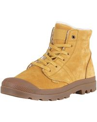 Palladium - Amber Gold/sahara/mid Gum Pallabrousse Lt Leather Boots - Lyst