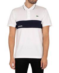 Lacoste Sport Colourblock Polo Shirt - Blue