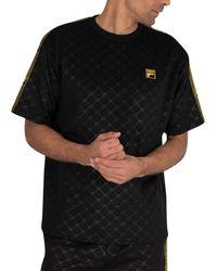 Fila Pelle Oversized Embossed T-shirt - Black