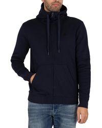 G-Star RAW Premium Core Zip Hoodie - Blue