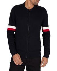 Tommy Hilfiger Branded Baseball Zip Jacket - Black