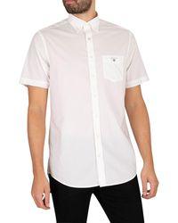 GANT Broadcloth Short Sleeved Shirt - White
