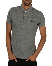 Superdry Classic Pique Polo Shirt - Grey