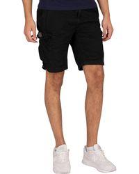 Schott Nyc Cargo Combat Shorts - Black