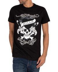 Ed Hardy Skull Love Caviar T-shirt - Black