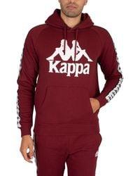 Kappa 222 Banda Hurtado Pullover Slim Hoodie - Red