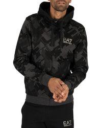 EA7 Zip Hoodie - Black