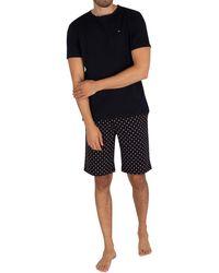 Tommy Hilfiger Short Jersey Pyjama Set - Black