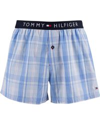 Tommy Hilfiger Woven Boxers - Blue