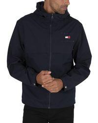 Tommy Hilfiger Logo Hooded Jacket - Blue