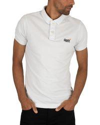 Superdry Classic Pique Polo Shirt - White