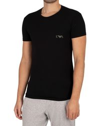 Emporio Armani 2 Pack Crew T-shirts - Black