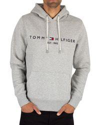 Tommy Hilfiger - Logo Pullover Hoodie - Lyst