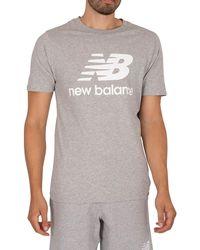 New Balance Essentials Stacked Logo T-shirt - Grey
