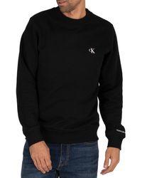 Calvin Klein Essential Logo Crew Sweat - Black