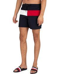 Tommy Hilfiger Medium Drawstring Regular Swim Shorts - Blue