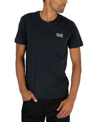EA7 Chest Logo T-shirt - Blue