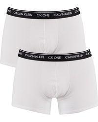 Calvin Klein 2 Pack Ck One Trunks - White